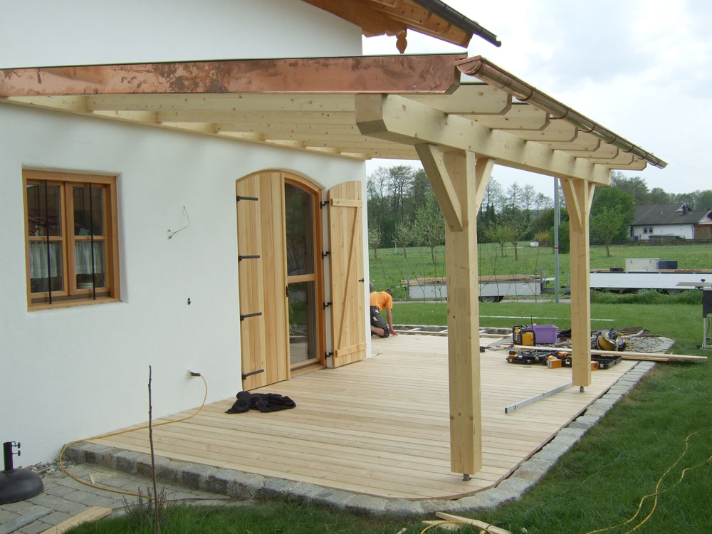 Zimmerei haderer ohg terrasse mit pergola for On the terrasse